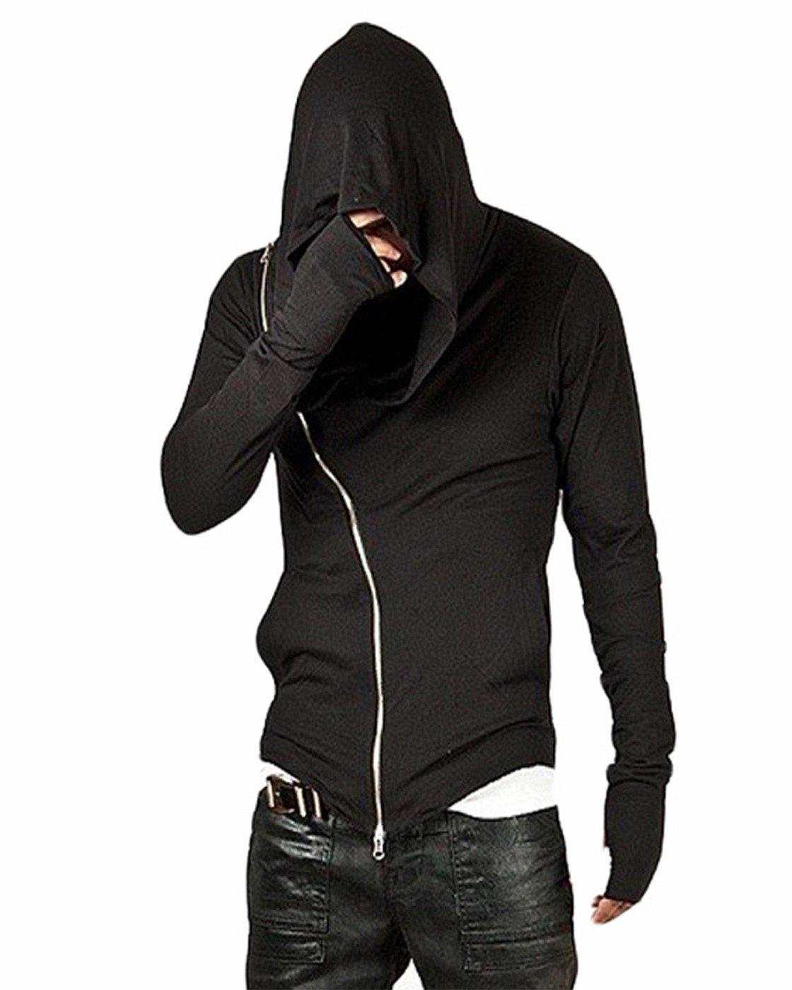 CIC Collection Men's Zipper Hoodie Casual Top Coat Slim Fit Jacket