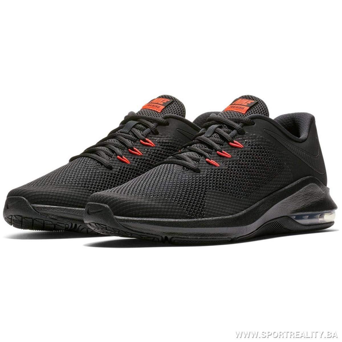 6f1476d39d Amazon.com   Nike Men's Air Max Alpha Trainer Training Shoe,  Black/Black/Bright Crimson, Size 6.5   Fitness & Cross-Training
