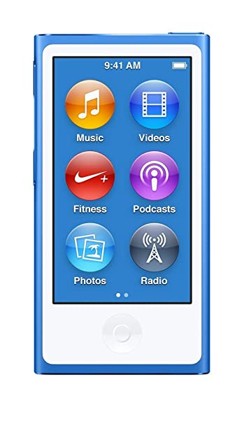 Apple MKN02HN/A iPod Nano 16 GB (Blue) MP3/MP4 Players at amazon