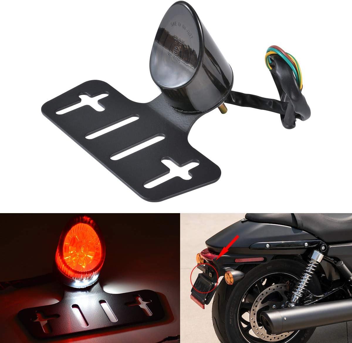 Tuincyn Motorrad Rücklicht Bremslicht Lauflicht Kennzeichenbeleuchtung Rauchglas Rotes Licht Passend Für Kawasaki Atv Chopper 1 Pack Auto