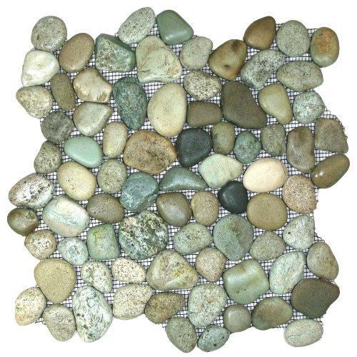 CNK Tile Glazed Sea Green Pebble Tile Sample