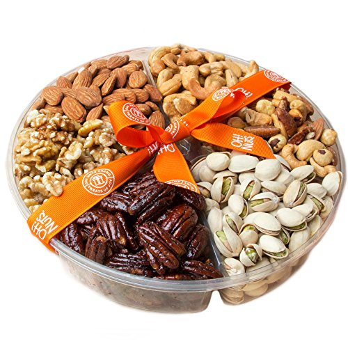 Oh! Nuts 6-section Roasted Holiday Nuts Basket - Medium Tray
