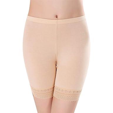 c366e9e5f4353 Shorties Dentelle Femme Culotte de Sécurité en Modal Doux Respirant Collant Taille  Haute Slip Boxer Élasticité