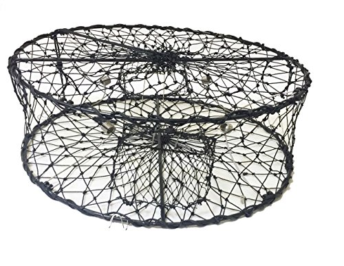 Collapsible Crab Traps (KUFA CT50 Sports Foldable Crab Trap with 3 Durable Stainless Steel Spring, 30
