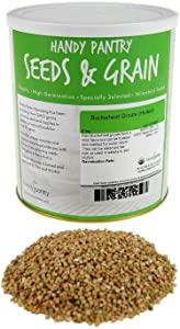 Hulled Buckwheat Groats- 5 Lbs - Certified Organic Buck Wheat Groats- Sprouting Seed, Gardening, Planting, Edible Seeds, Emergency Food Storage, Hydroponics