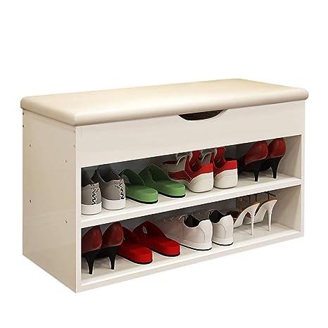 Amazon.com: Zapatero, banco de zapatos, taburete de ...