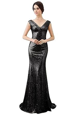 Amazon Ainidress Sequins Prom Dresses Long One Shoulder Ball