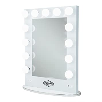 Amazoncom White Vanity Girl Broadway Lighted Vanity Mirror With 2