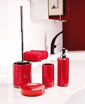 Bad-Accessoires-Set 4-teilig Venus rot B-Ware WC-Bürste ...