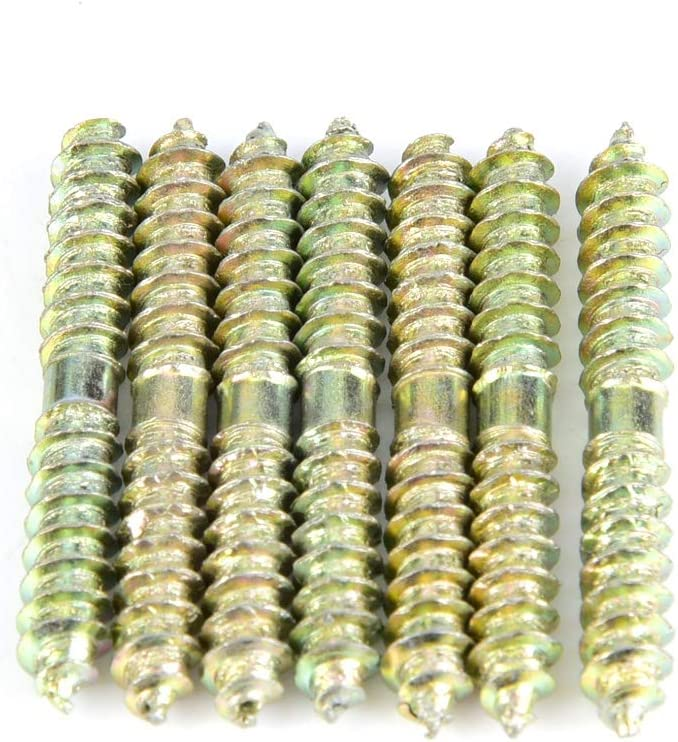 Sturdy Iron Connecting Bolts 540mm Double Sided Screw for Furniture
