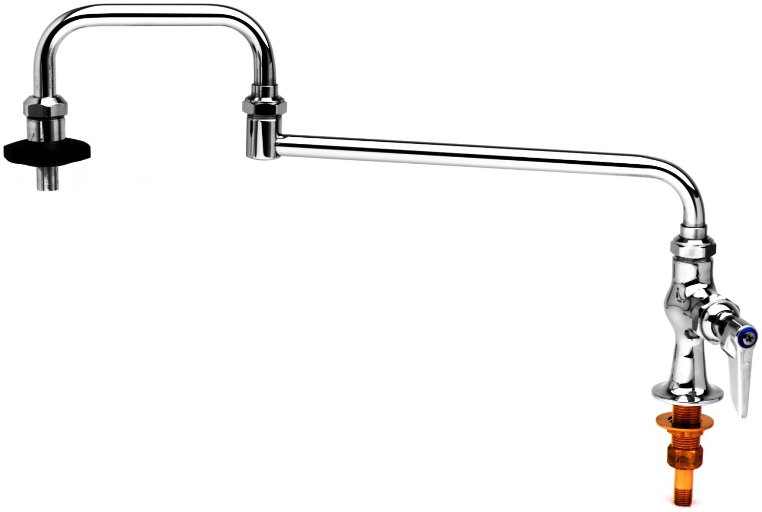 T&S Brass B-0591, Pot Filler with Deck Mount, Single Control, 24-Inch Double Joint Nozzle and Insulated On-Off Control by T&S Brass B007L4N0R8