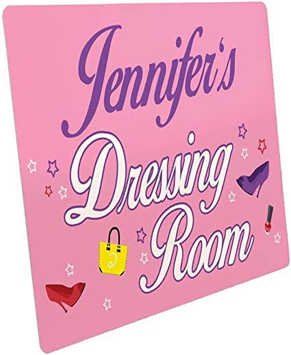 Personalised Dressing Room Door Sign Girls Bedroom Decor Powder Room Plaque New Home Gift Ideas Teenager Room Plaque Amazon Co Uk Kitchen Home