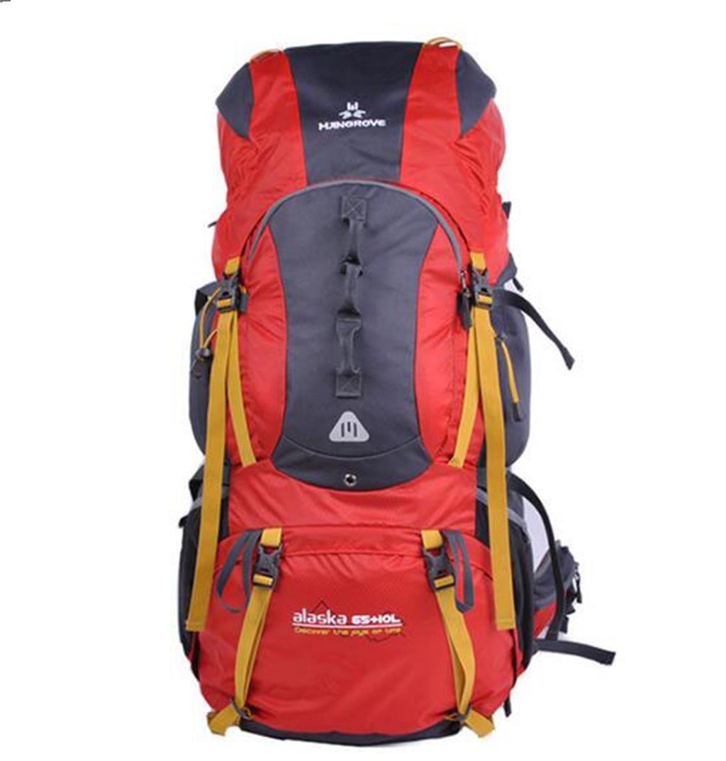ハイキングバッグ アウトドアバックパック 登山バッグ メンズバッグ ショルダーバッグ ハイキングバックパック 75l プロフェッショナル ハイキングバックパック 65+10L レッド B07NKPV4NN レッド 65+10L
