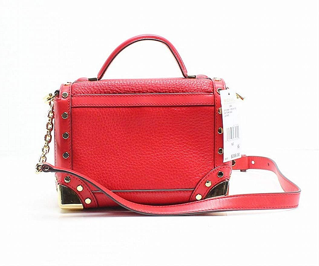 362ae371a6d1 MICHAEL Michael Kors Cori Small Leather Trunk Bag - Bright Red: Handbags:  Amazon.com