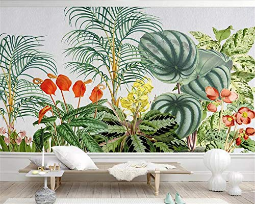 beibehang Custom Mural Wallpaper Painting HD Quality Hand Painted Tropical Plants Living Room TV Background Wall 3D Wallpaper