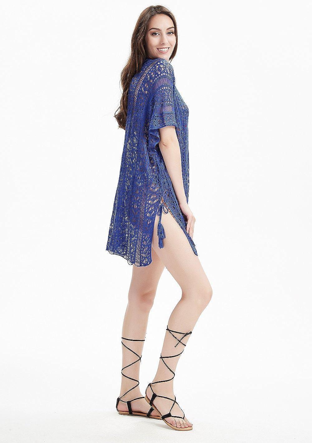 Ferand - Vestido Sexy De Playa Verano Crochet Camisola para Bikini ...
