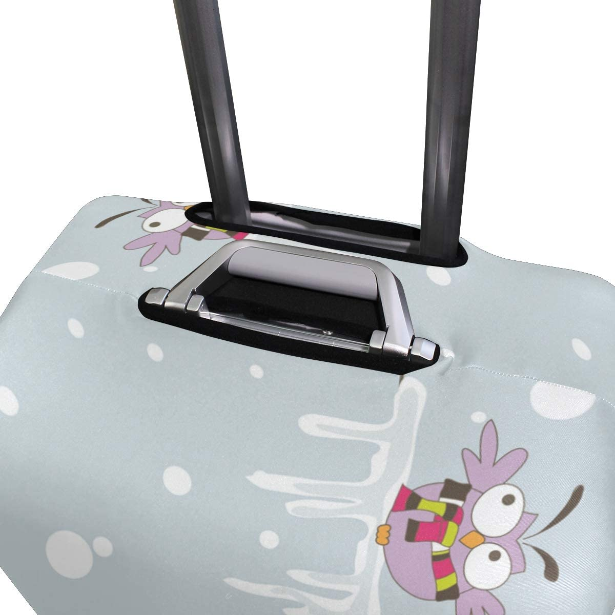 18//22//26//29 Inch Travel Suitcase Luggage Protective Cover with Three Owls Zebra Couple