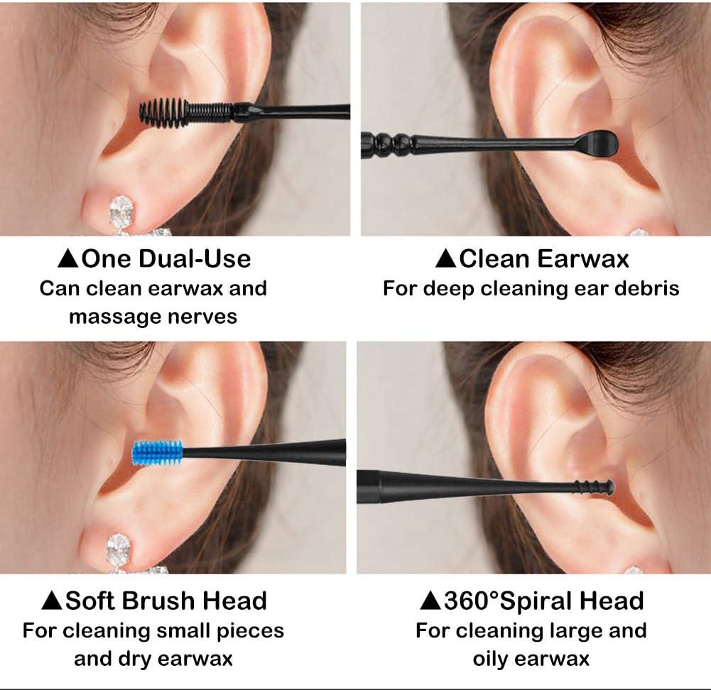Limpiador de O/ídos,Removedor de Cera de O/ído,Ear Wax Removal,Ear Cleaner,Ear Wax Remover,Kit de limpieza para o/ídos,Limpiador de o/ídos inteligente,para beb/és,j/óvenes y adolescentes adultos,6 Pcs