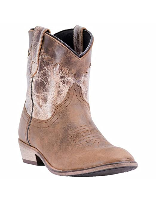 92270fdee30 Dingo Womens Cognac Fashion Boots Leather Cowboy Boots Round Toe