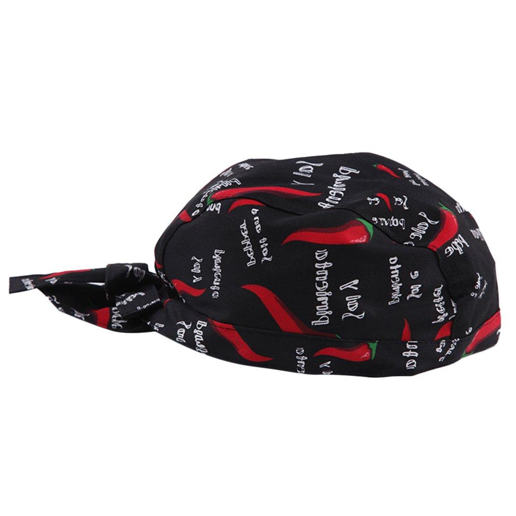 MagiDeal Unisex Cappello Bandana Ristorazione Asciugamani Cappellini da Cuoco Chef Cucina Taglia unica