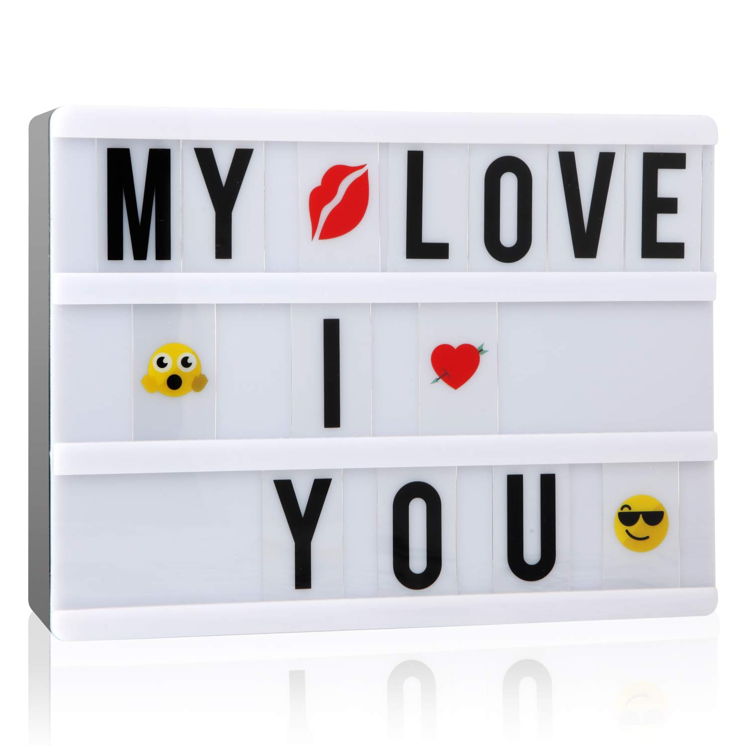 A5 Cinematic Light Up Box with 110 Letters, ME456 Cinema Light Sign for Festival, Wedding, Party, Birthday