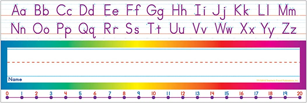 This is a picture of Alphabet Strip Printable within print