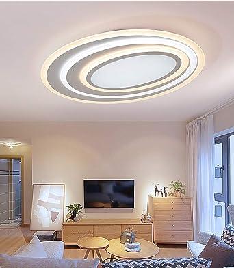 LED Lámpara de Techo 12W,Moderna Ovalado LED Luz de Techo,Plafón ...