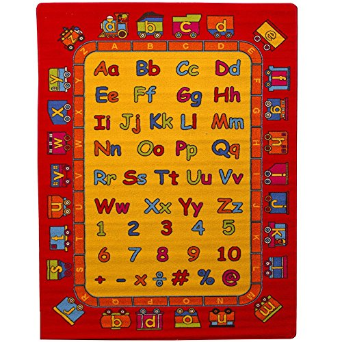 """Mybecca ABC Fun Kids Rugs Playtime Area Rug, 5"""" x 7"""" for sale  Delivered anywhere in USA"""
