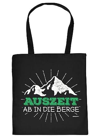 Baumwolltasche Wandern Bergsteigen Klettern Spruche Tasche Auszeit