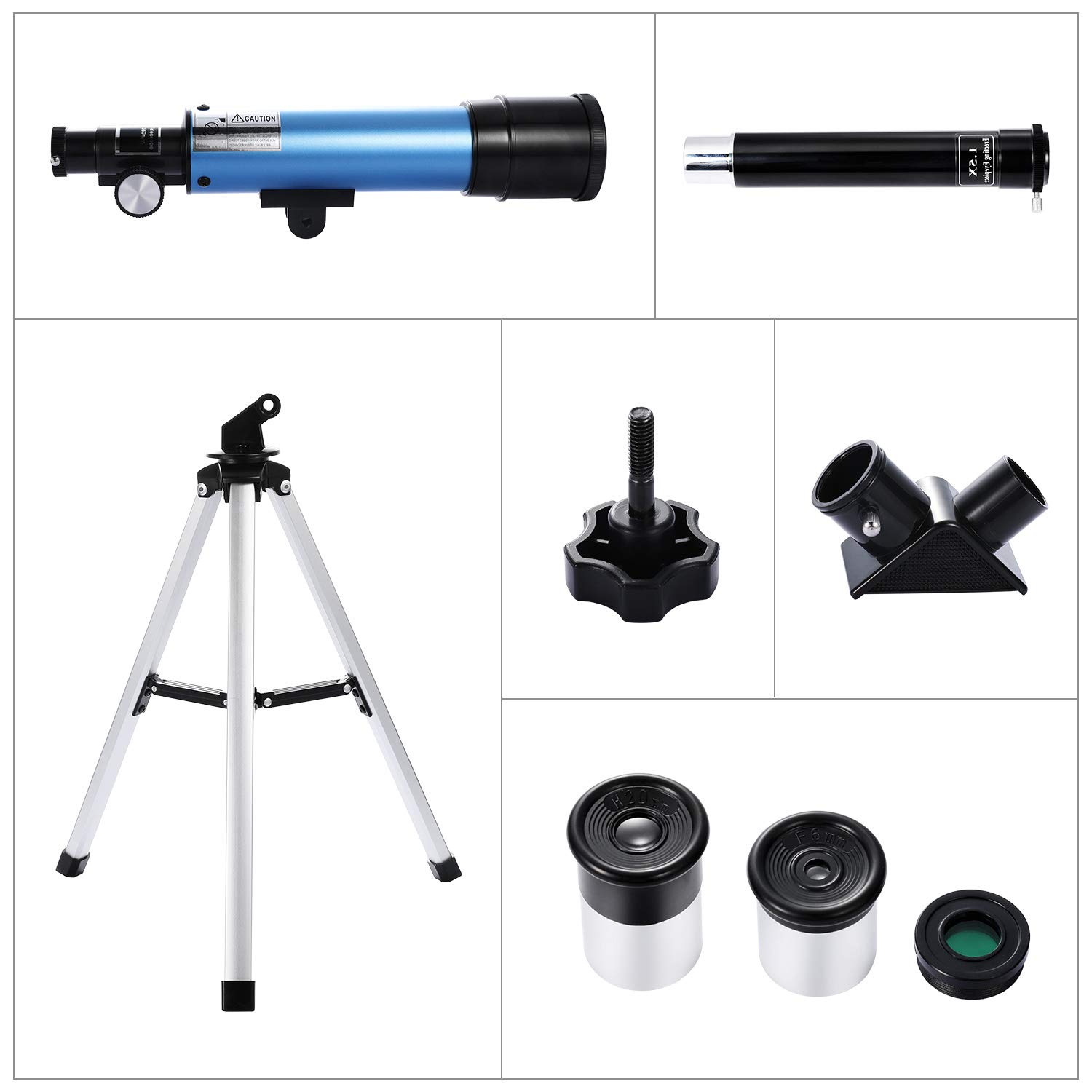 Telescope for Kids, Merkmak Educational Toy for Beginners Science Plastic Tools with Tripod and 3 Magnification Eyepieces 360/50mm Spotting Scope