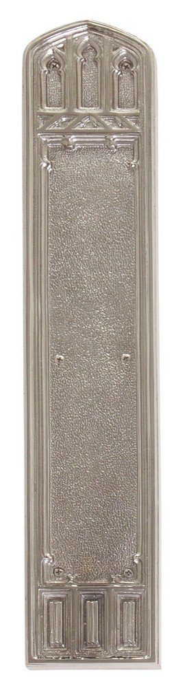 Satin Nickel 3-3//8 x 18 BRASS Accents A04-P5840-619 Oxford Renaissance Collection Push Plate