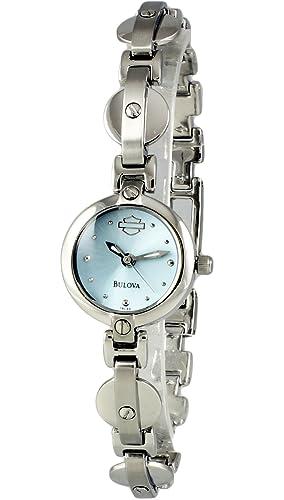 Harley Davidson by Bulova analógica de la Mujer Ronda Reloj Pulsera de Acero 76l22: Amazon.es: Relojes