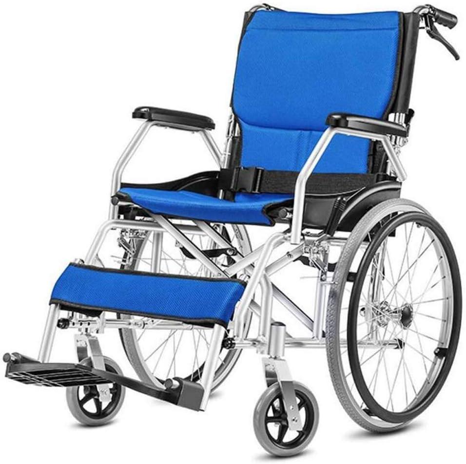 Silla de Ruedas Plegable portátil de luz Superlight Carretilla Edad Viejo discapacitados sillas de Ruedas pequeñas Viaje a Tanto alzado de la Rueda Plegable Fácil