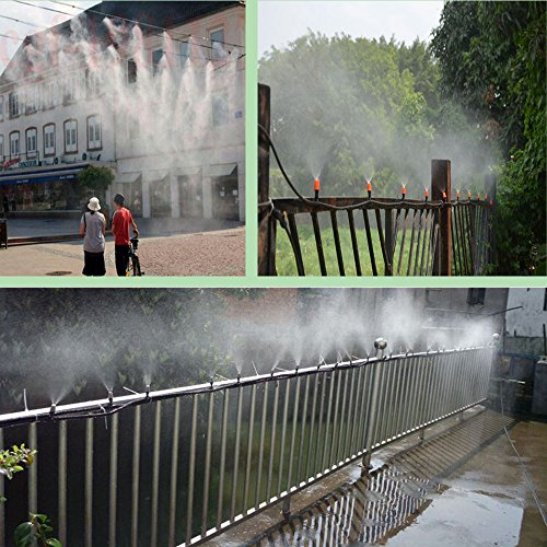82FT Mist Cooling System with 25PCS Plastic Mist Nozzles For Outdoor Lawn Patio Garden Greenhouse by Forfuture-go (Image #7)'