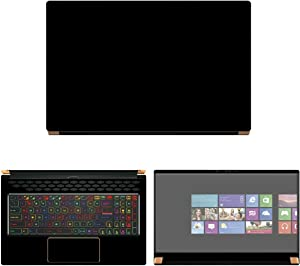 "Decalrus - Protective Decal Black Skin Sticker for MSI GS75 Stealth (17.3"" Screen) case Cover wrap MSgs75_17-90"