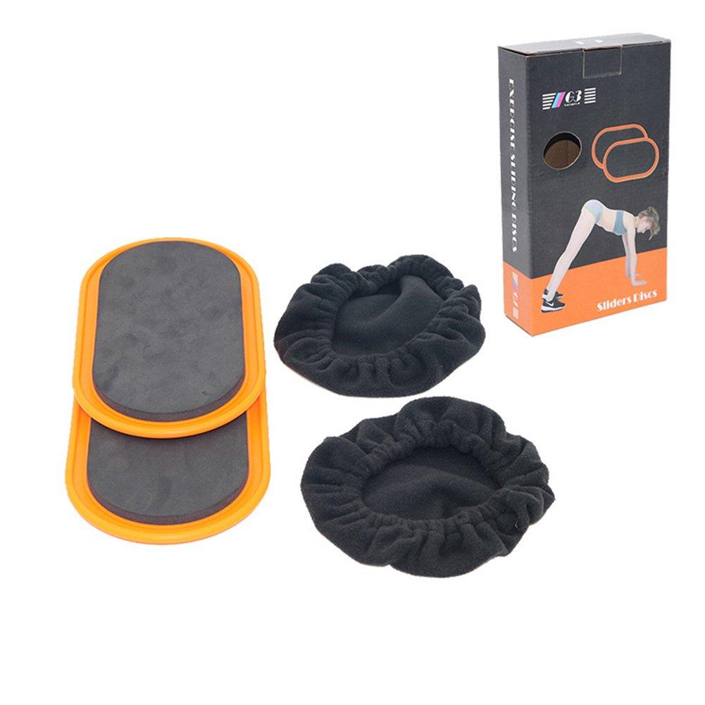 LanLan 2pcs Gliding Discs Core Sliders Coordinaci/ón de todo el cuerpo Equipo de ejercicio abdominal