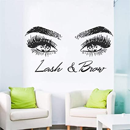 5dd2f17b466 Amazon.com: Fuirs Stickers Vinyl Wall Art Decals Letters Quotes Decoration  Eyelashes Lashes Eyebrows Brows Beauty Salon Decor Eye Quote Make Up Shop  Poster: ...