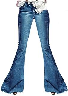 Amazon.com: Orangeskycn - Pantalones vaqueros para mujer ...