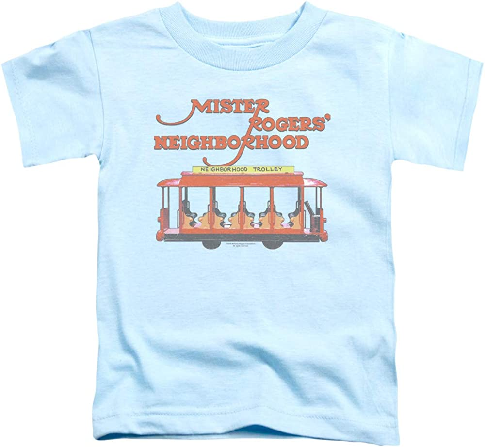 Amazon Com Mister Rogers Toddler T Shirt Trolley Light Blue Tee Clothing