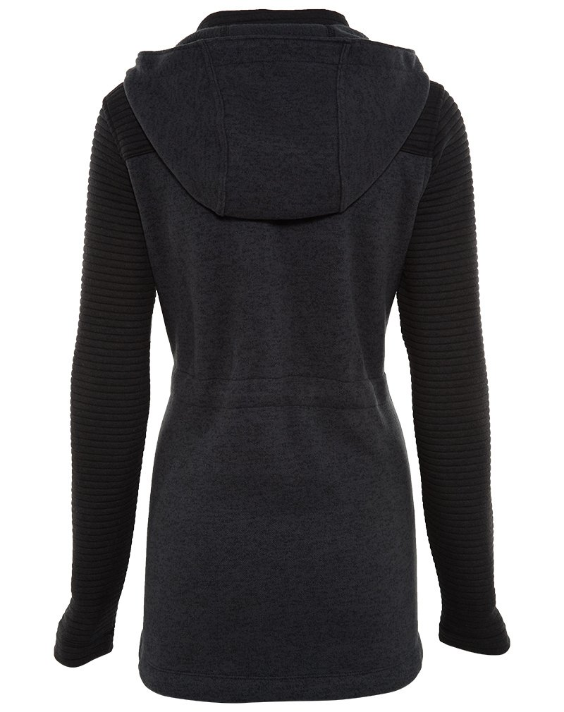 The North Face Indi Insulated Hoodie Womens TNF Black Heather/TNF Black L by The North Face (Image #2)