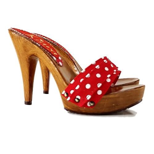 nuovo prodotto d726c c2ea3 kiara shoes Zoccoli - K21101 Rosso Pois