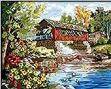 Colour Talk Diy oil painting, paint by number kit- Romantic bridges 1620 inch.