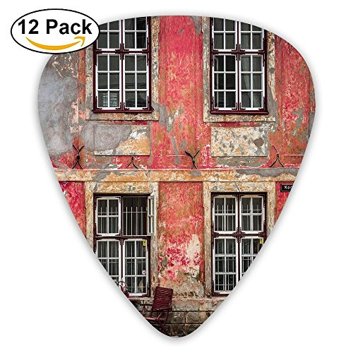 Newfood Ss Medieval European Structure Nordic Old City Travel Ancient Landmark Guitar Picks 12 Pack Set