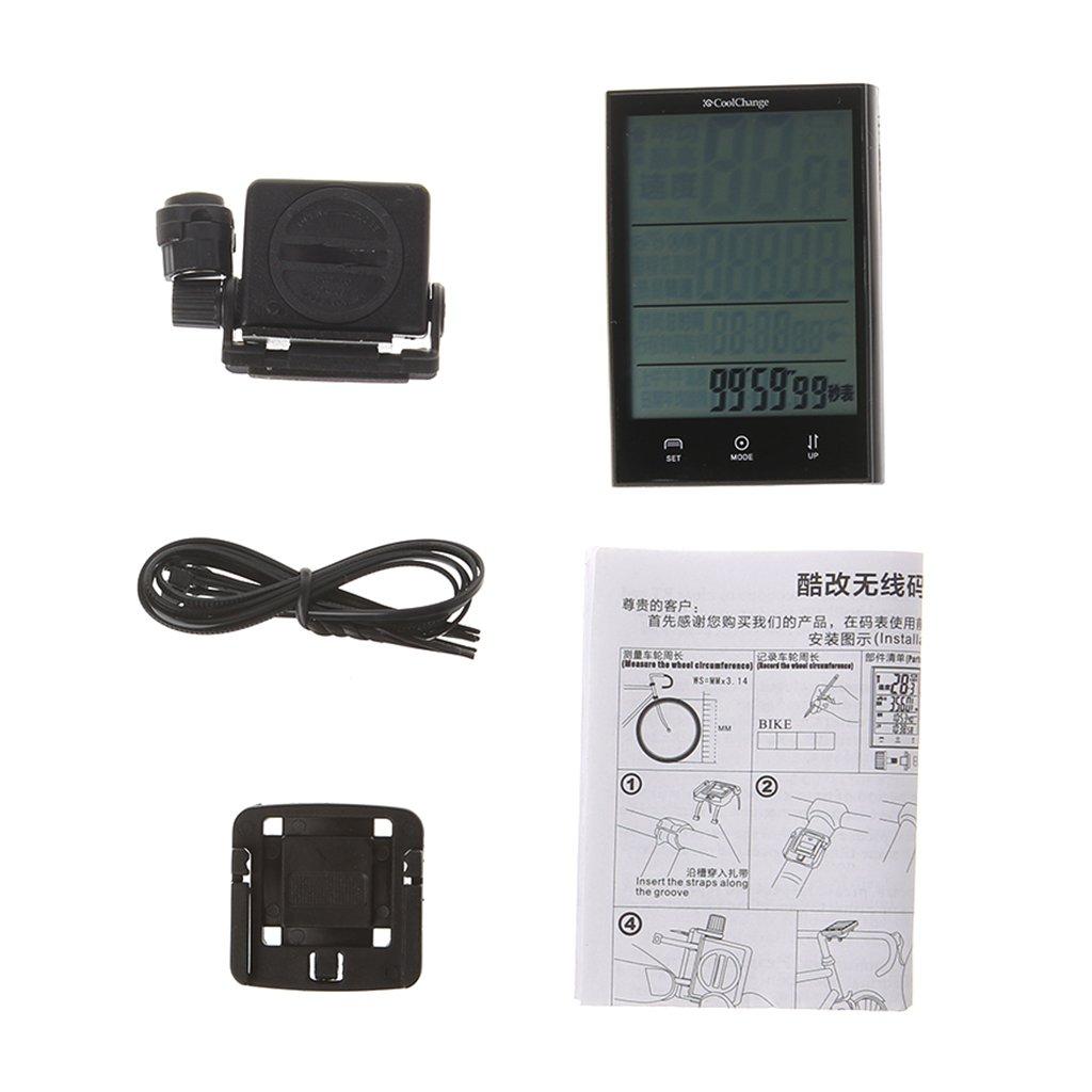 ULKEMEBike Computer Waterproof Wireless Speedometer Multifunction LCD Cycling Odometer