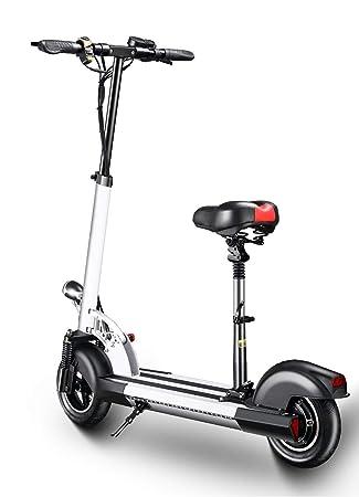 XULONG Scooters eléctricos Adultos Plegables, 200 kg Carga máxima con Asiento 10 Pulgadas 25km/H, batería de Litio 36V 12AH con Frenos de Disco ...