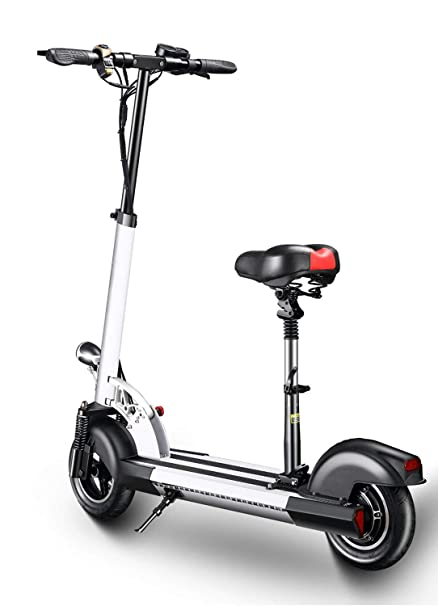 Xulong Electric Scooters Adult Foldable 200 Kg Max Load With Seat 10 Inch 25km H Lithium Battery 36v 12ah With Dual Disk Brakes Led Light And Hd