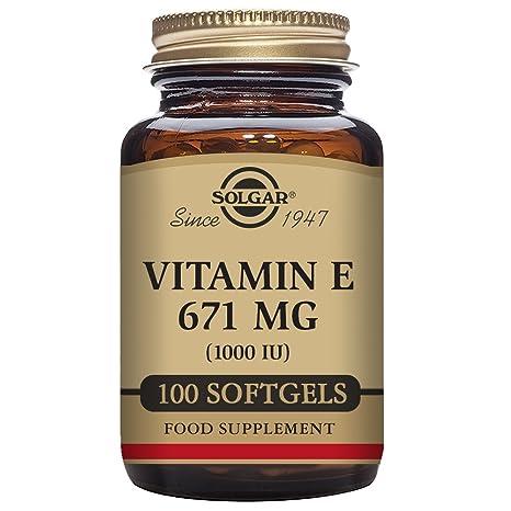 Solgar 671 MG vitamina E cápsulas blandas – Pack de 100