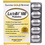Cheap California Gold Nutrition, LactoBif Probiotics, 100 Billion CFU, 30 Veggie Caps, Milk-Free, Egg-Free, Fish Free, Gluten-Free, Peanut Free, Treenut Free, Shellfish Free, Soy-Free, Vegetarian, CGN