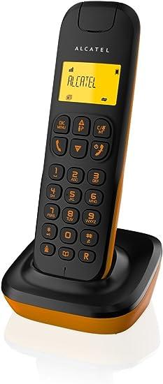 Alcatel D135 - Teléfono inalámbrico, color negro y naranja: Amazon.es: Electrónica