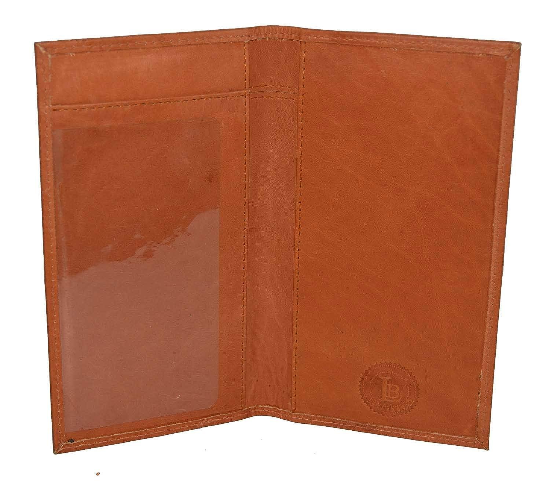 LeatherBoss Plain Checkbook Cover
